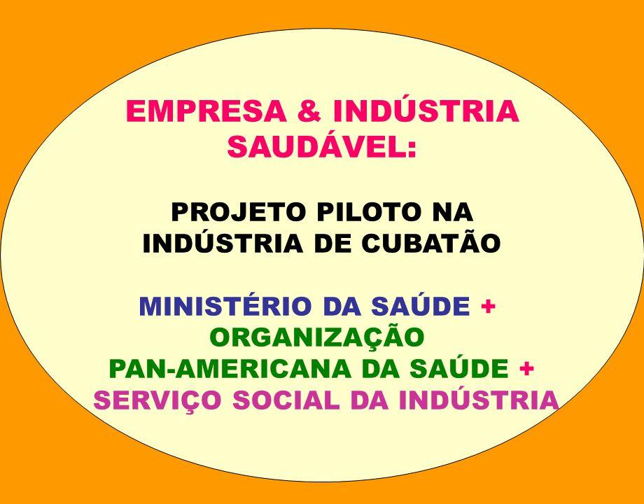SESI : INDÚSTRIA SAUDÁVEL 2000: TESTES DE METODOLOGIA REALIZADOS EM EMPRESAS DE SÃO PAULO, D F, STA CATARINA E R.
