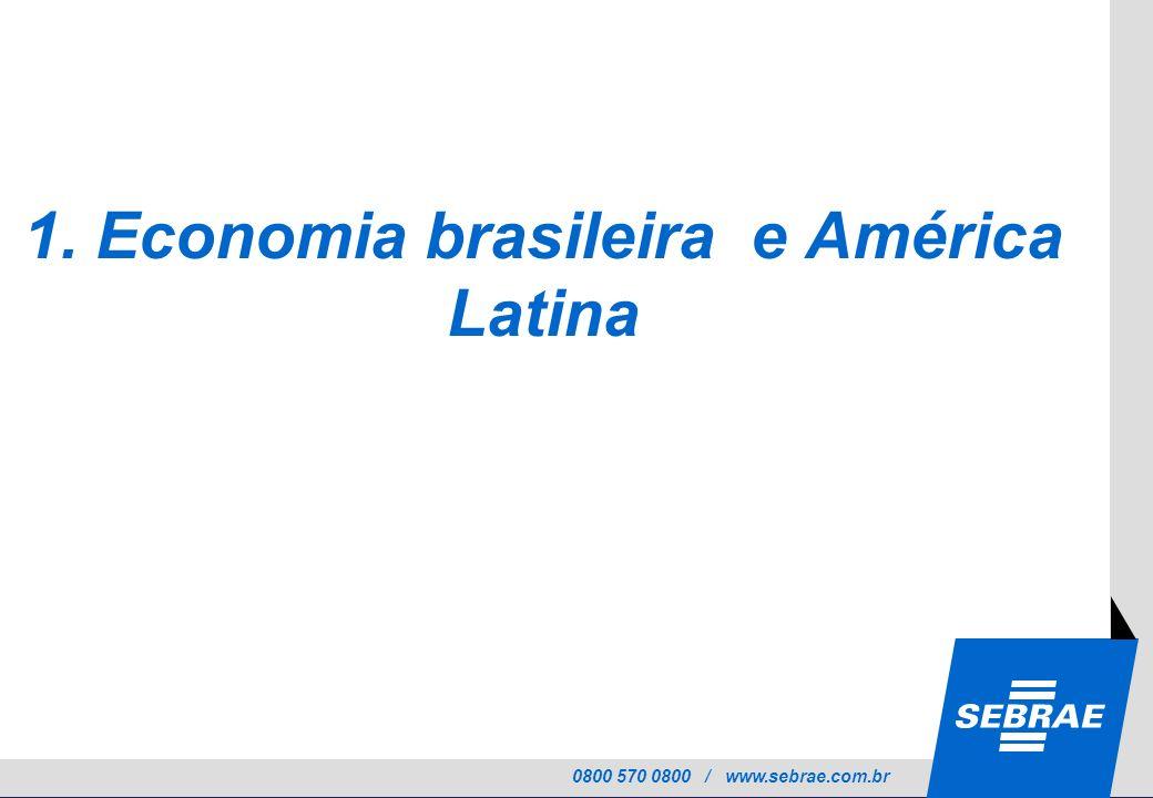 0800 570 0800 / www.sebrae.com.br 1. Economia brasileira e América Latina