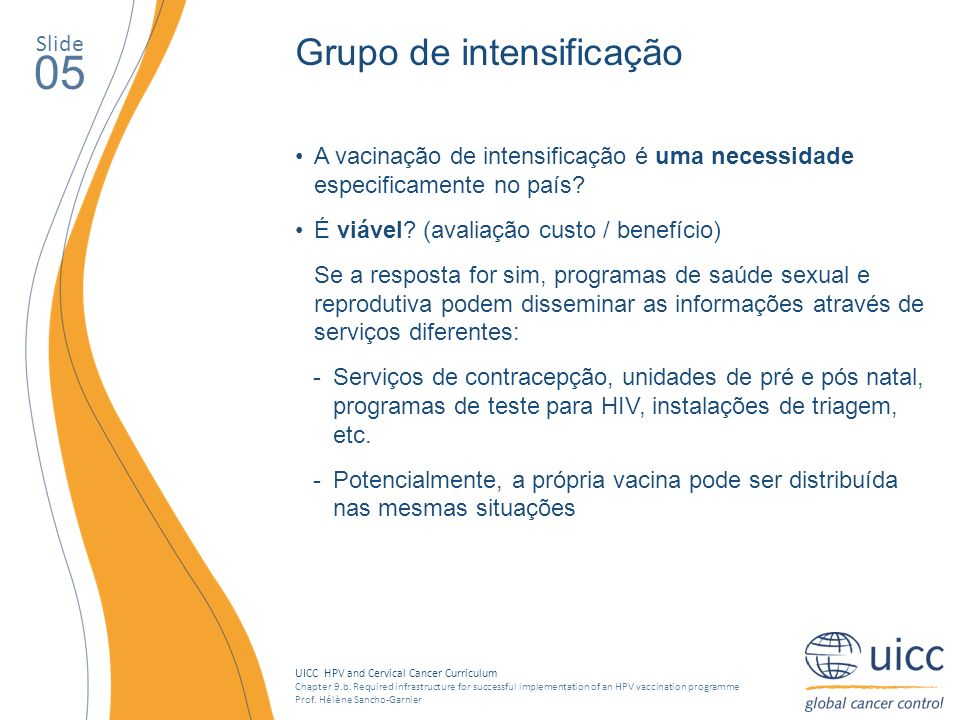 UICC HPV and Cervical Cancer Curriculum Chapter 9.b.