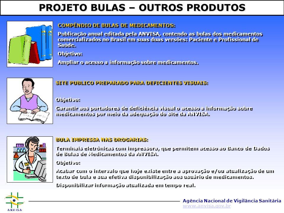 Agência Nacional de Vigilância Sanitária www.anvisa.gov.br A Biblioteca Virtual em Saude – BVS – muda a realidade social do Brasil ao disseminar informacao.