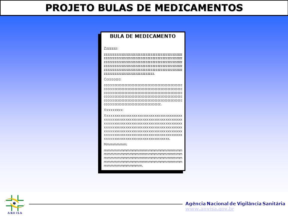 Agência Nacional de Vigilância Sanitária www.anvisa.gov.br INDÚSTRIA PARCERIAS ANVISA SITE PÚBLICO É COMPOSTO POR 4 MÓDULOS SISTEMA DE GERENCIAMENTO ELETRÔNICO DE BULAS 1 2 3 4