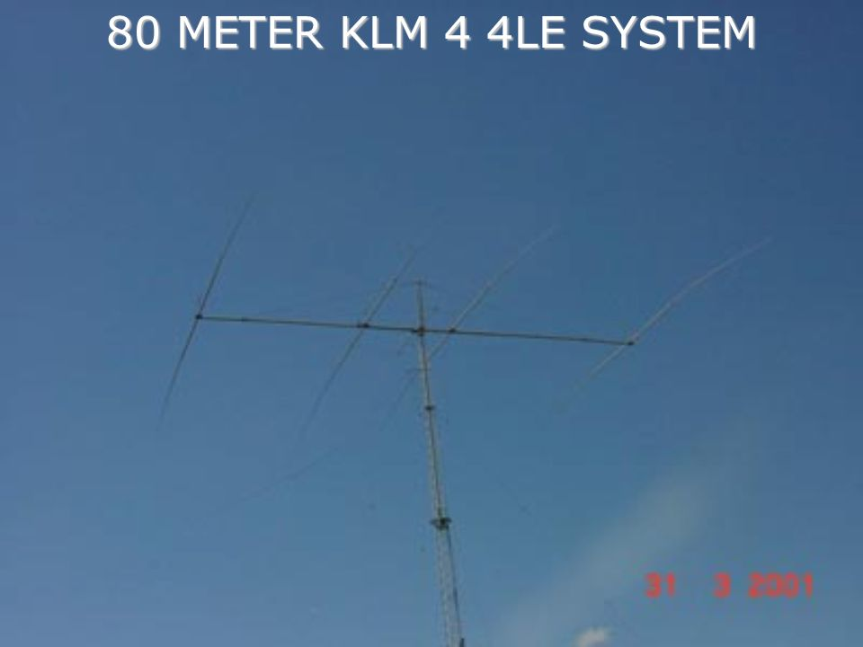 80 METER KLM 4 4LE SYSTEM