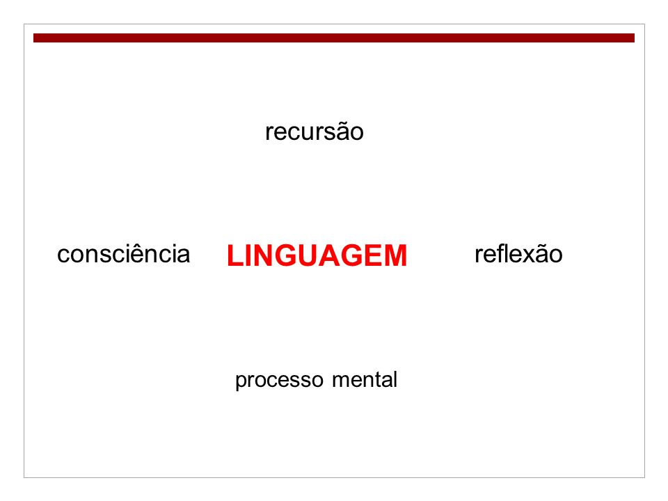 LINGUAGEM recursão processo mental consciênciareflexão