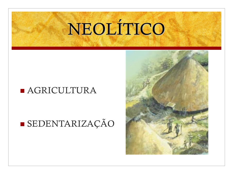 NEOLÍTICO AGRICULTURA SEDENTARIZAÇÃO