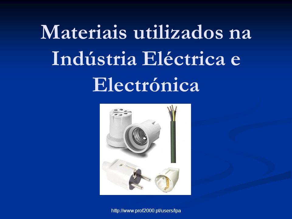 http://www.prof2000.pt/users/lpa Materiais utilizados na Indústria Eléctrica e Electrónica