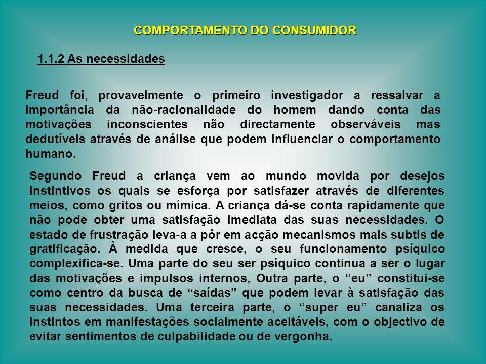 Freud foi, provavelmente o primeiro investigador a ressalvar a importância da não-racionalidade do homem dando conta das motivações inconscientes não