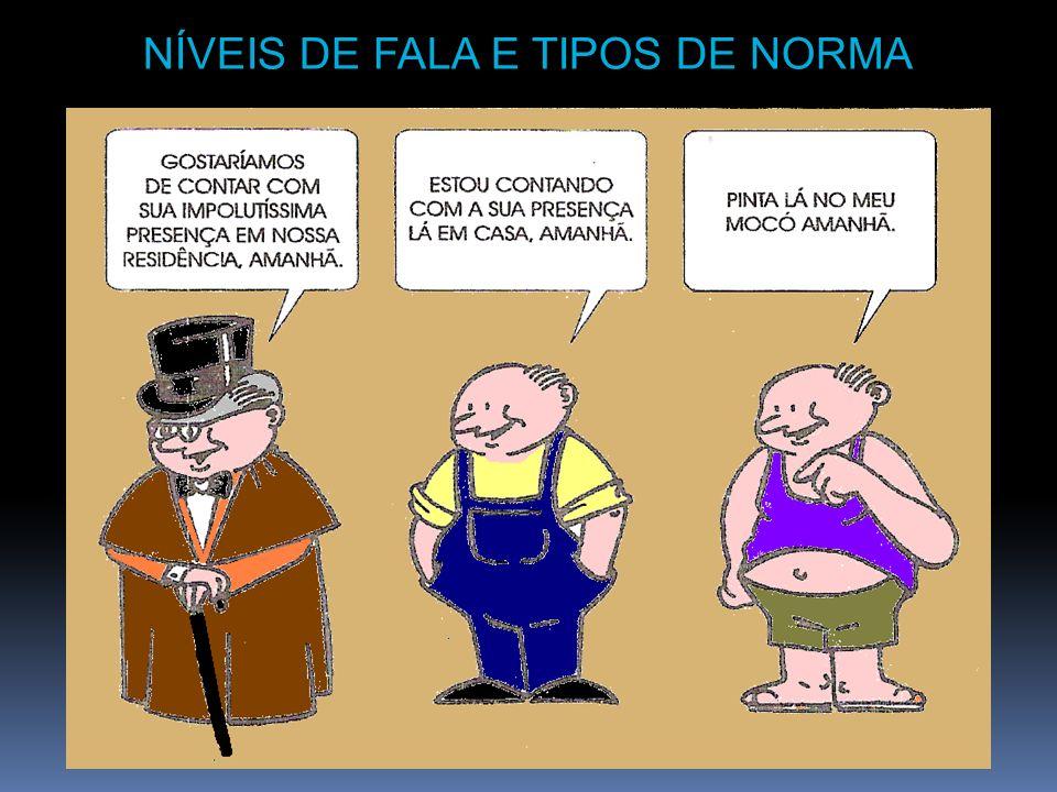 NÍVEIS DE FALA E TIPOS DE NORMA