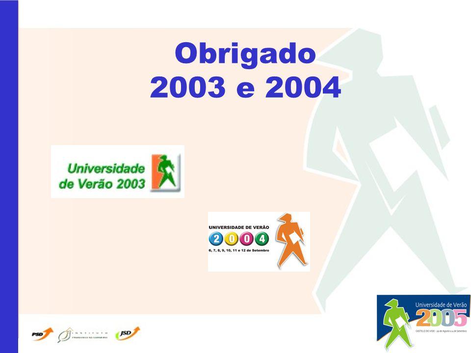 Obrigado 2003 e 2004
