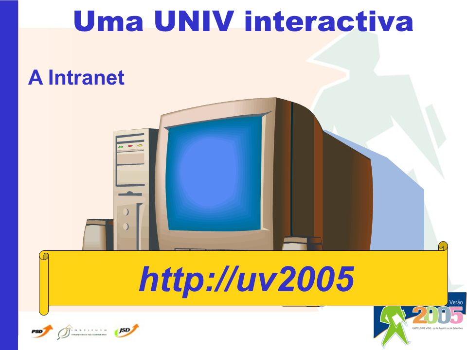 Uma UNIV interactiva A Intranet http://uv2005