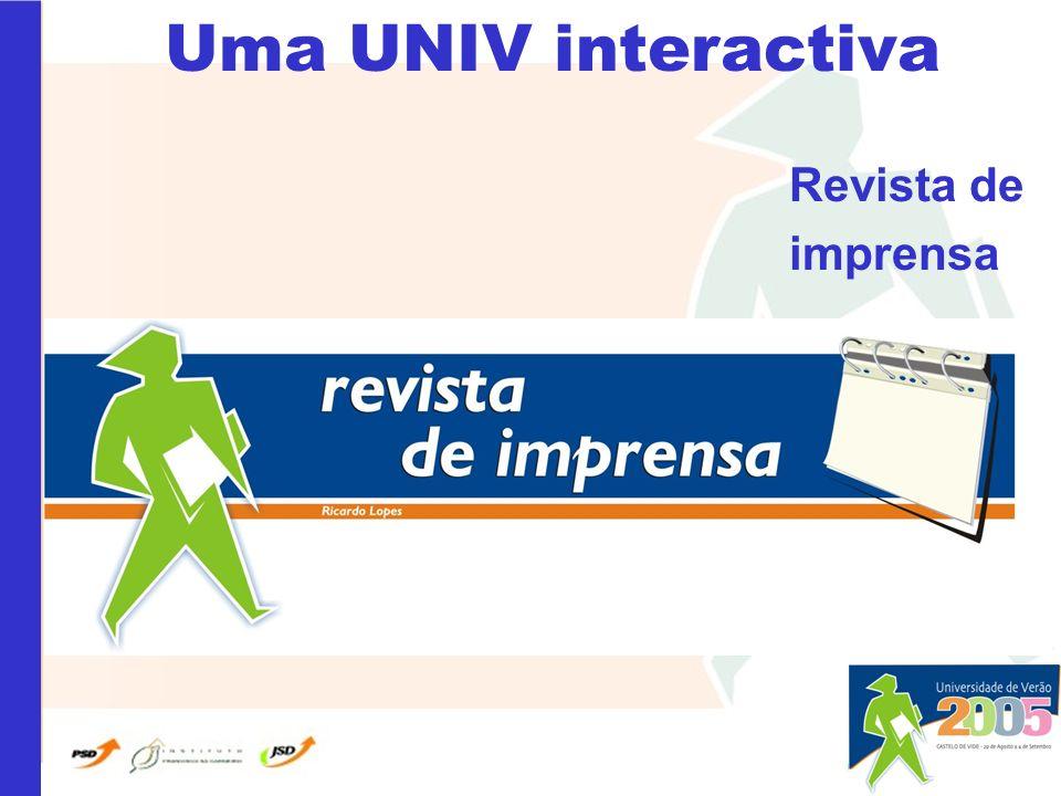 Uma UNIV interactiva Revista de imprensa