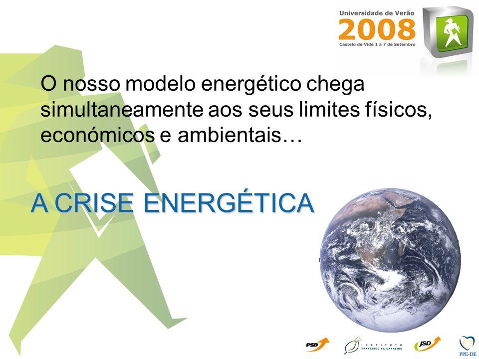 O nosso modelo energético chega simultaneamente aos seus limites físicos, económicos e ambientais… A CRISE ENERGÉTICA