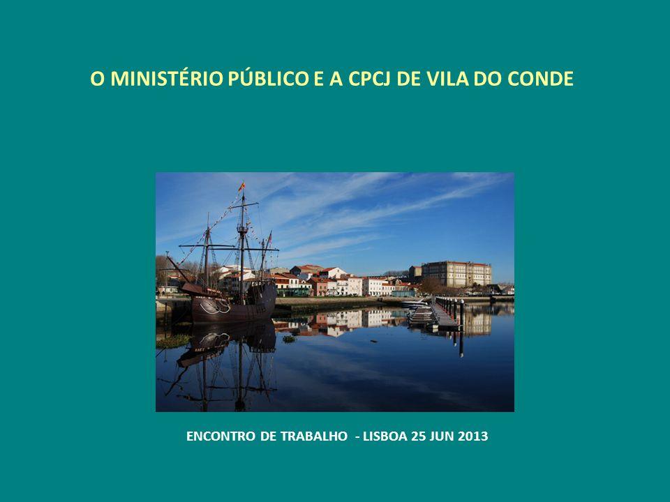 O MINISTÉRIO PÚBLICO E A CPCJ DE VILA DO CONDE ENCONTRO DE TRABALHO - LISBOA 25 JUN 2013
