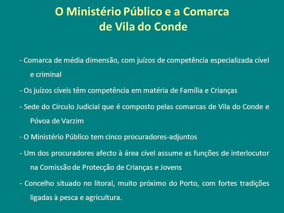 O Ministério Público e a Comarca de Vila do Conde - Comarca de média dimensão, com juízos de competência especializada cível e criminal - Os juízos cí