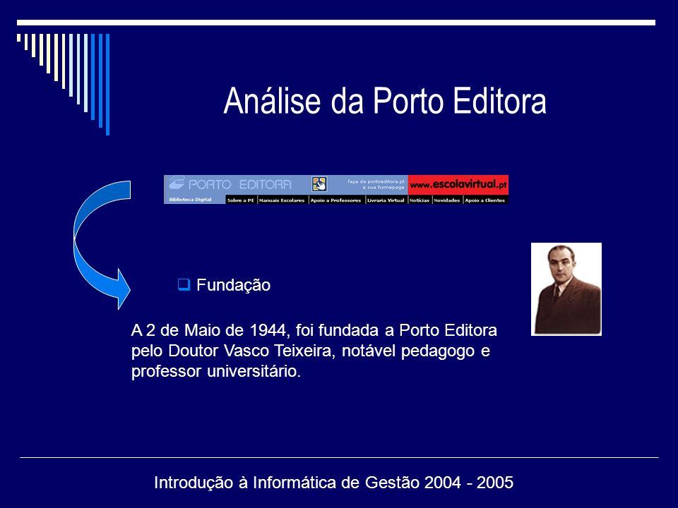 Análise da Porto Editora Site de fácil exploração, contendo um menu desdobrável.