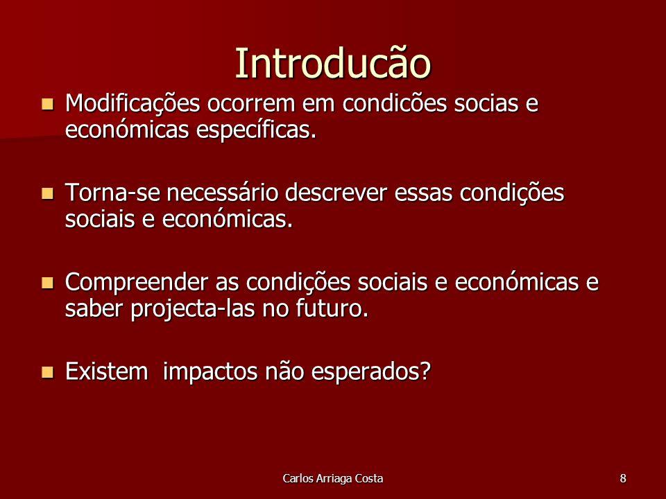 8 Introducão Modificações ocorrem em condicões socias e económicas específicas.