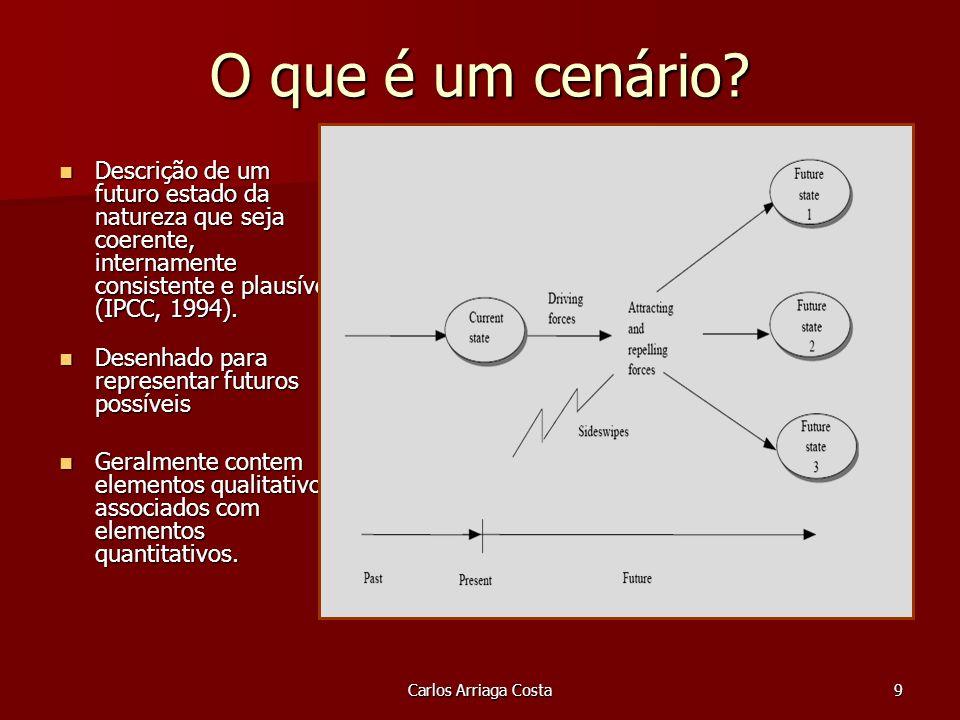 Carlos Arriaga Costa9 O que é um cenário.