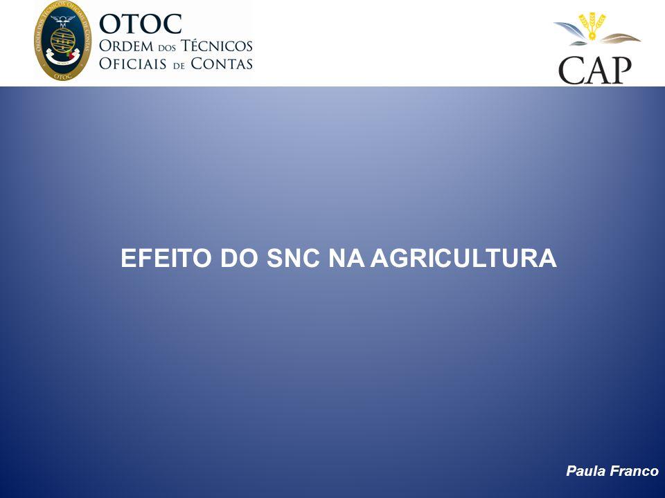 Paula Franco EFEITO DO SNC NA AGRICULTURA