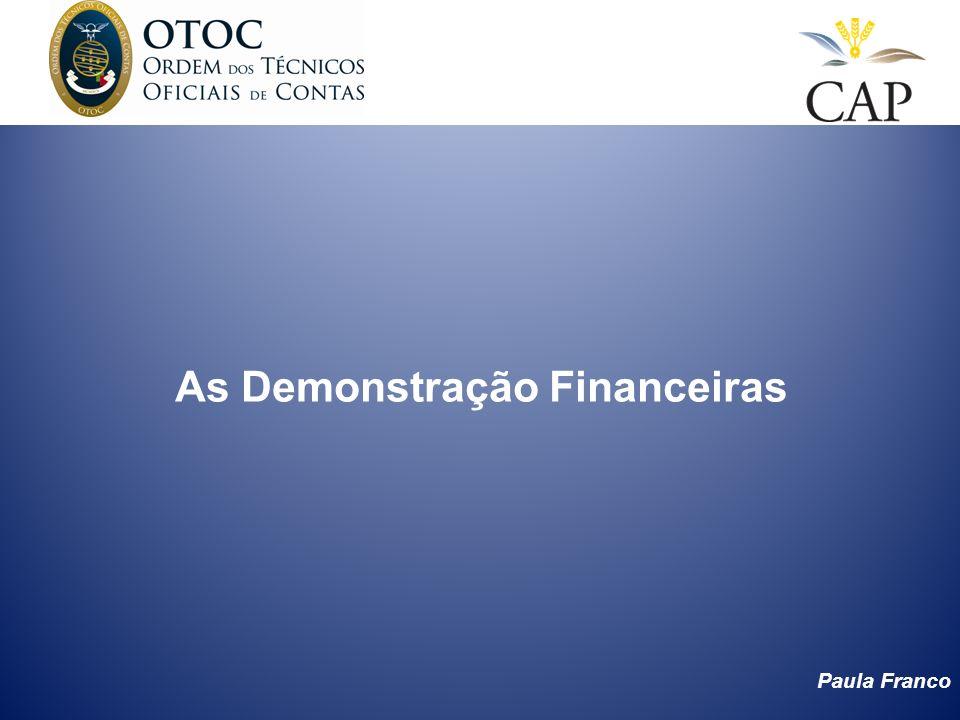 Paula Franco As Demonstração Financeiras