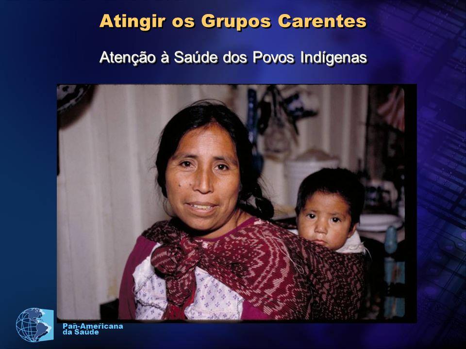 Organização Pan-Americana da Saúde Atingir os Grupos Carentes Atenção à Saúde dos Povos Indígenas