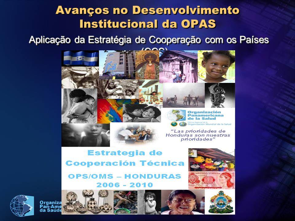 Organização Pan-Americana da Saúde Avanços no Desenvolvimento Institucional da OPAS Aplicação da Estratégia de Cooperação com os Países (CCS)