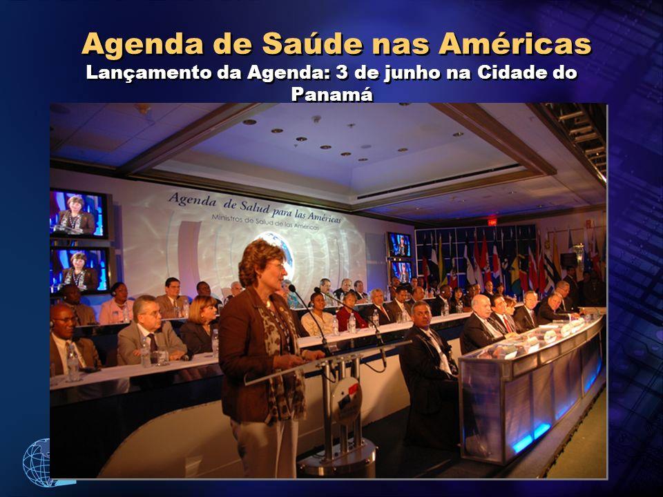 Organização Pan-Americana da Saúde Agenda de Saúde nas Américas Lançamento da Agenda: 3 de junho na Cidade do Panamá