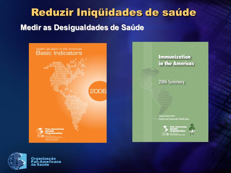 Organização Pan-Americana da Saúde Reduzir Iniqüidades de saúde Medir as Desigualdades de Saúde