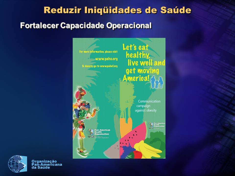 Organização Pan-Americana da Saúde Reduzir Iniqüidades de Saúde Fortalecer Capacidade Operacional