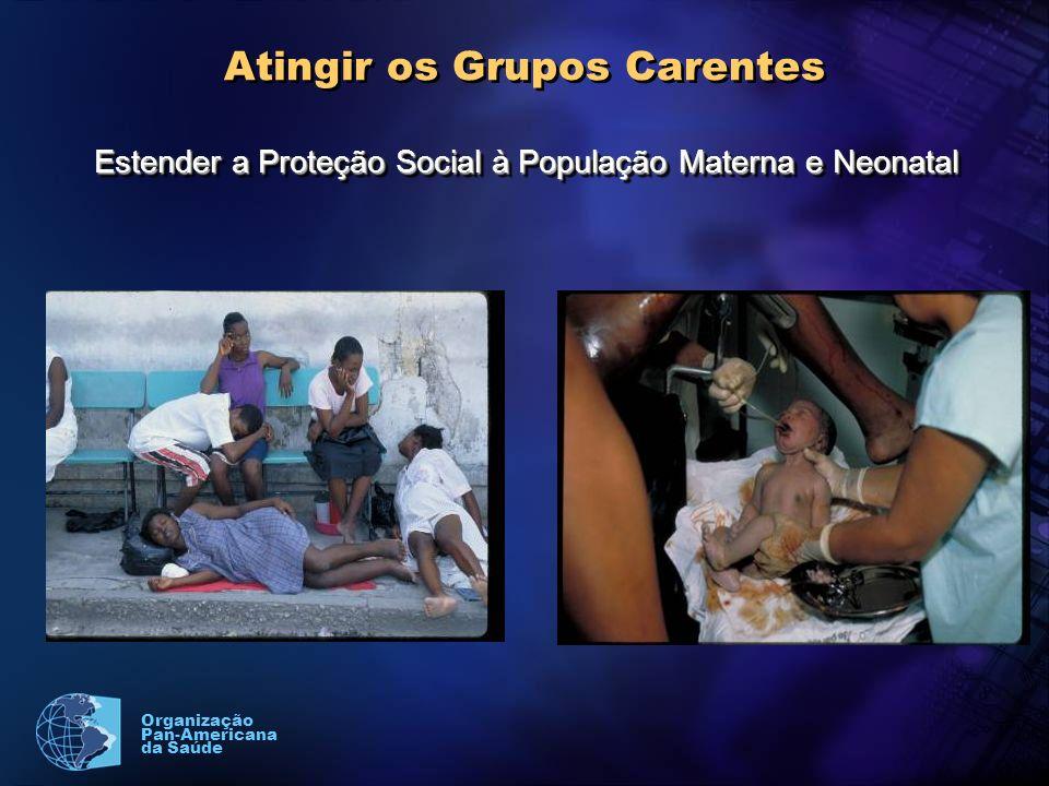 Organização Pan-Americana da Saúde Atingir os Grupos Carentes Estender a Proteção Social à População Materna e Neonatal