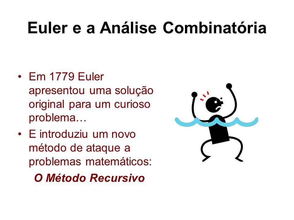 Euler e a Análise Combinatória Em 1779 Euler apresentou uma solução original para um curioso problema… E introduziu um novo método de ataque a problem