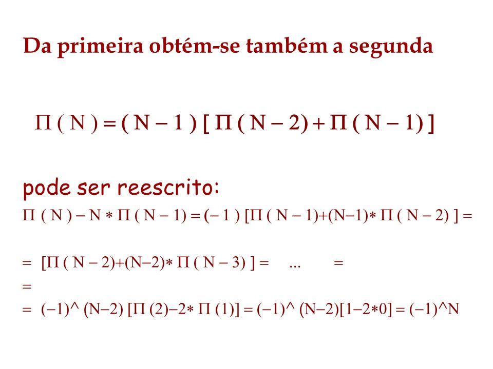 Da primeira obtém-se também a segunda pode ser reescrito: ^ ( ^ ( ^