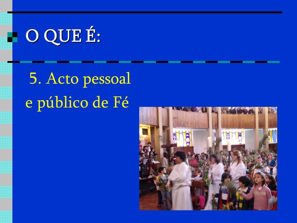O QUE É: 5. Acto pessoal e público de Fé