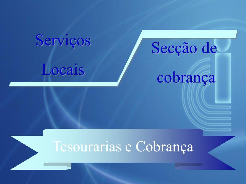 Tesourarias e Cobrança Serviços Locais Serviços Locais Secção de cobrança Secção de cobrança
