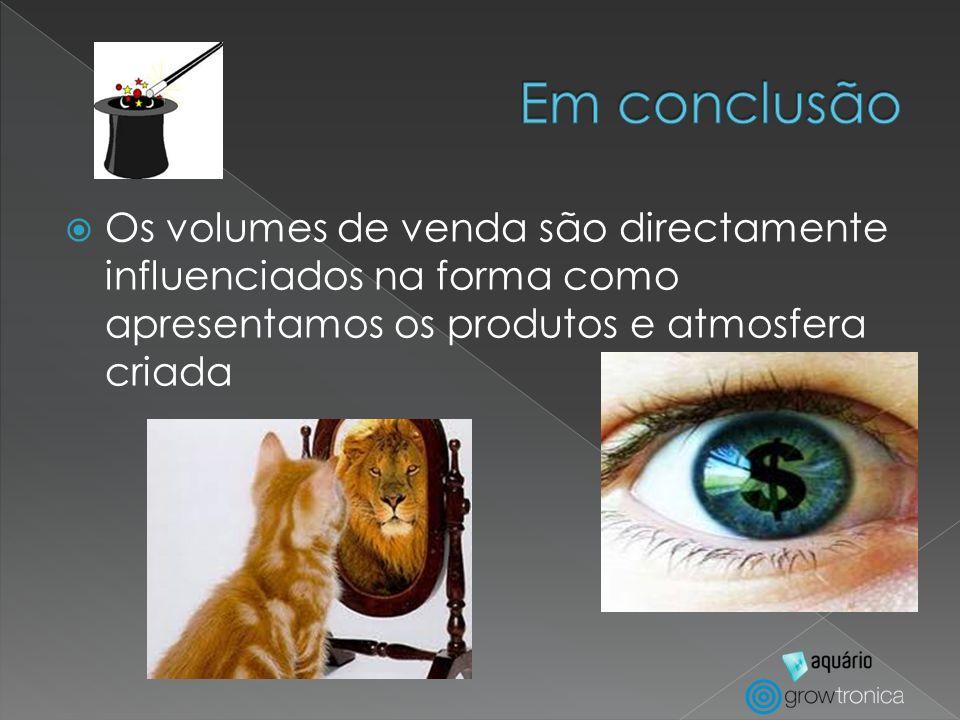 Os volumes de venda são directamente influenciados na forma como apresentamos os produtos e atmosfera criada