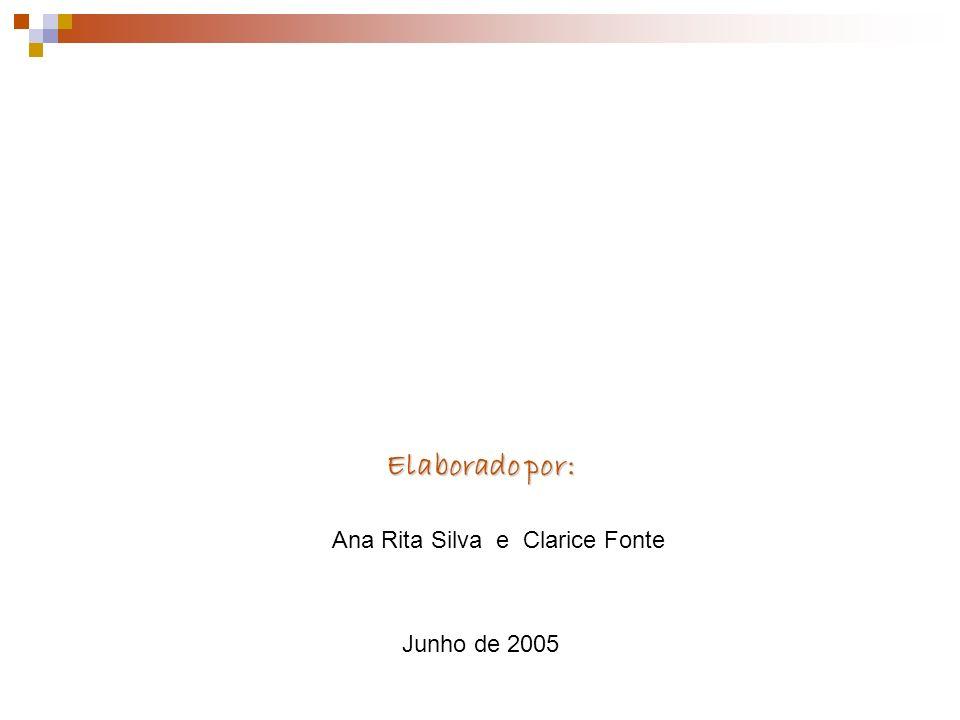 Elaborado por: Elaborado por: Ana Rita Silva e Clarice Fonte Junho de 2005