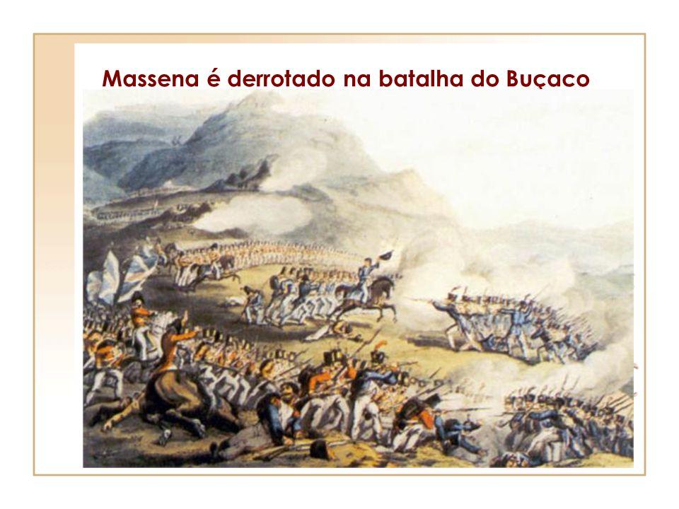 3ª invasão Julho de 1810 - Chefiados pelo marechal Massena, as tropas francesas entram em Portugal, pela Guarda e marcham em direcção a Lisboa. Durant