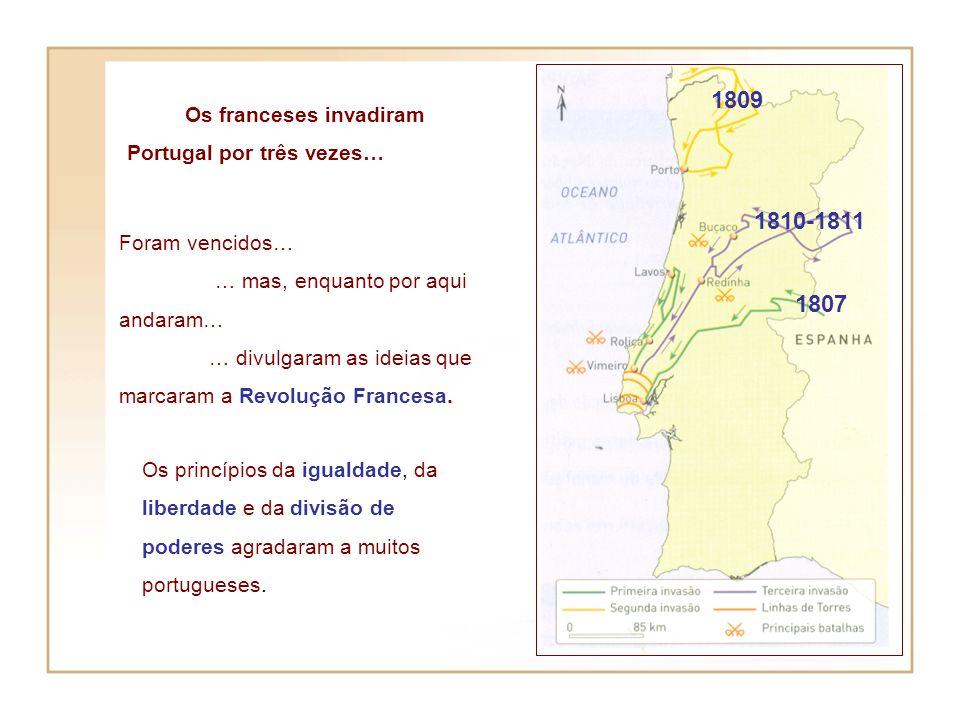 Massena segue em direcção à capital Os franceses não conseguiram passar as linhas de defesa da cidade de Lisboa. As linhas de Torres Vedras Derrotados