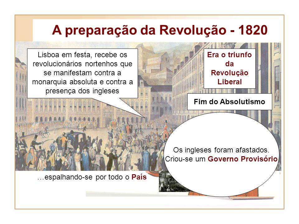 1820 e a Revolução Liberal objectivos Destacar os principais episódios e figuras marcantes da revolução de 1820. Destacar a acção das Cortes Constitui