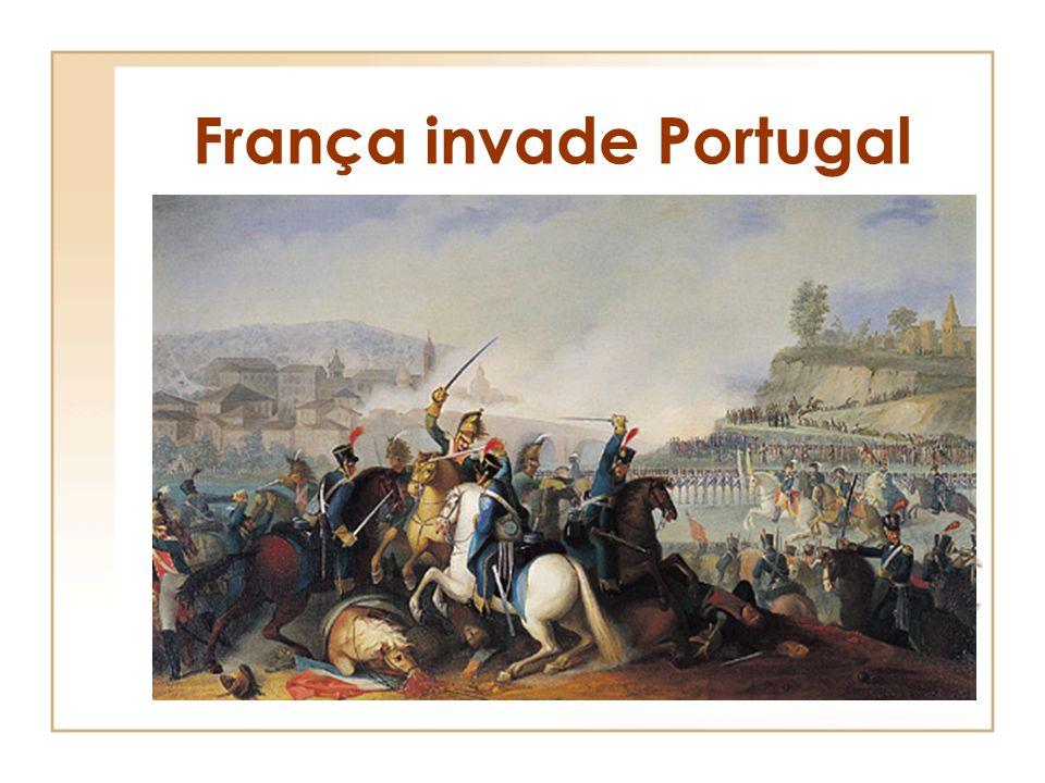 Europa no tempo de Napoleão Portugal não adere ao bloqueio Continental Inglaterra resiste Fecho dos portos aos navios ingleses