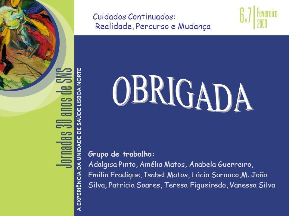 Grupo de trabalho: Adalgisa Pinto, Amélia Matos, Anabela Guerreiro, Emília Fradique, Isabel Matos, Lúcia Sarouco,M. João Silva, Patrícia Soares, Teres