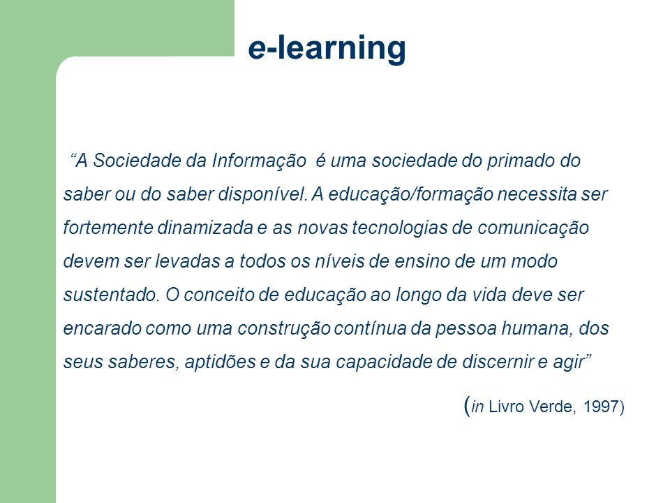 A Sociedade da Informação é uma sociedade do primado do saber ou do saber disponível. A educação/formação necessita ser fortemente dinamizada e as nov