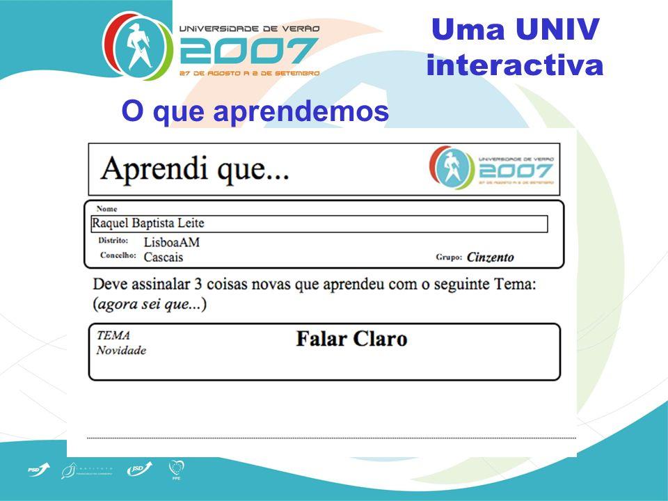 Revista de imprensa Uma UNIV interactiva