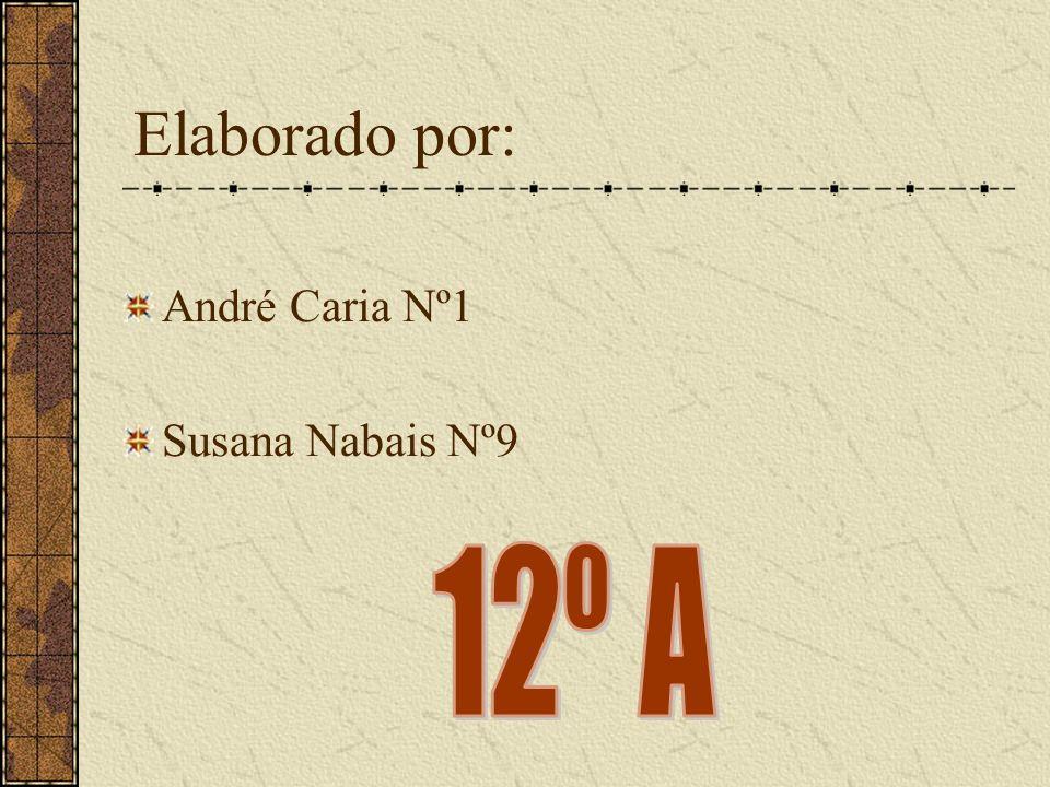 Elaborado por: André Caria Nº1 Susana Nabais Nº9