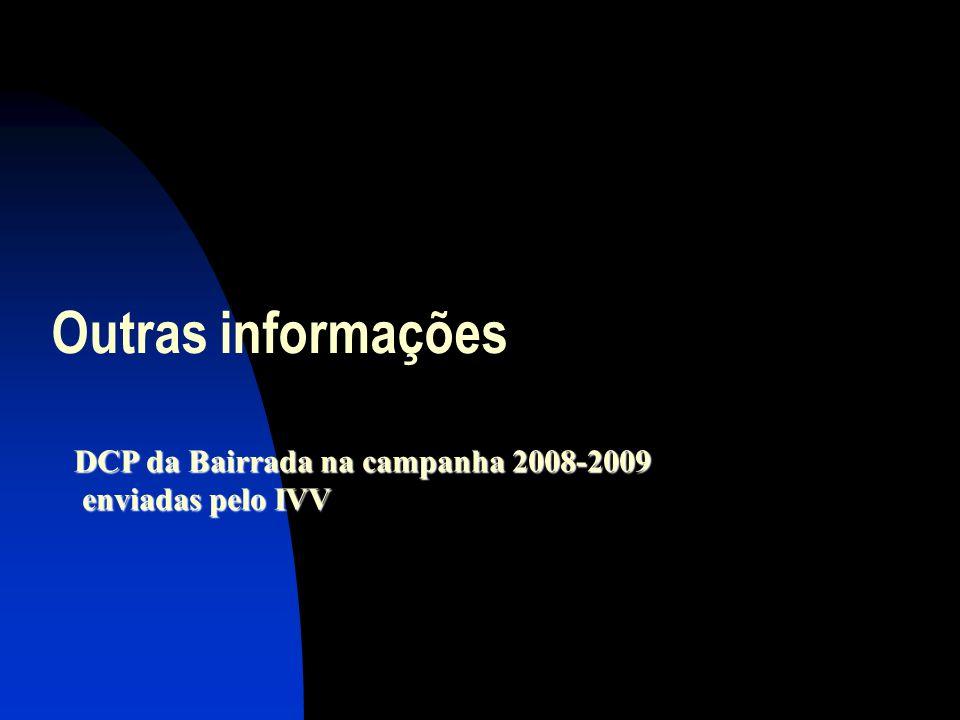 Outras informações DCP da Bairrada na campanha 2008-2009 enviadas pelo IVV enviadas pelo IVV