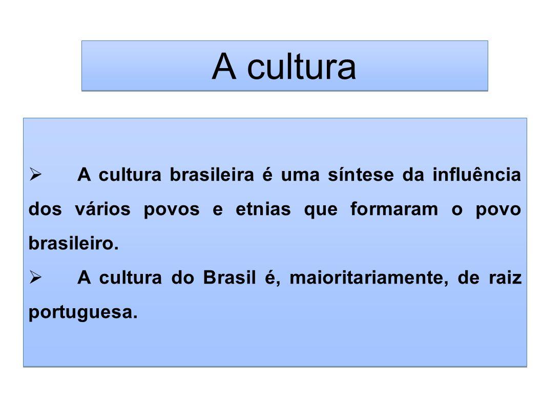 A cultura brasileira é uma síntese da influência dos vários povos e etnias que formaram o povo brasileiro. A cultura do Brasil é, maioritariamente, de