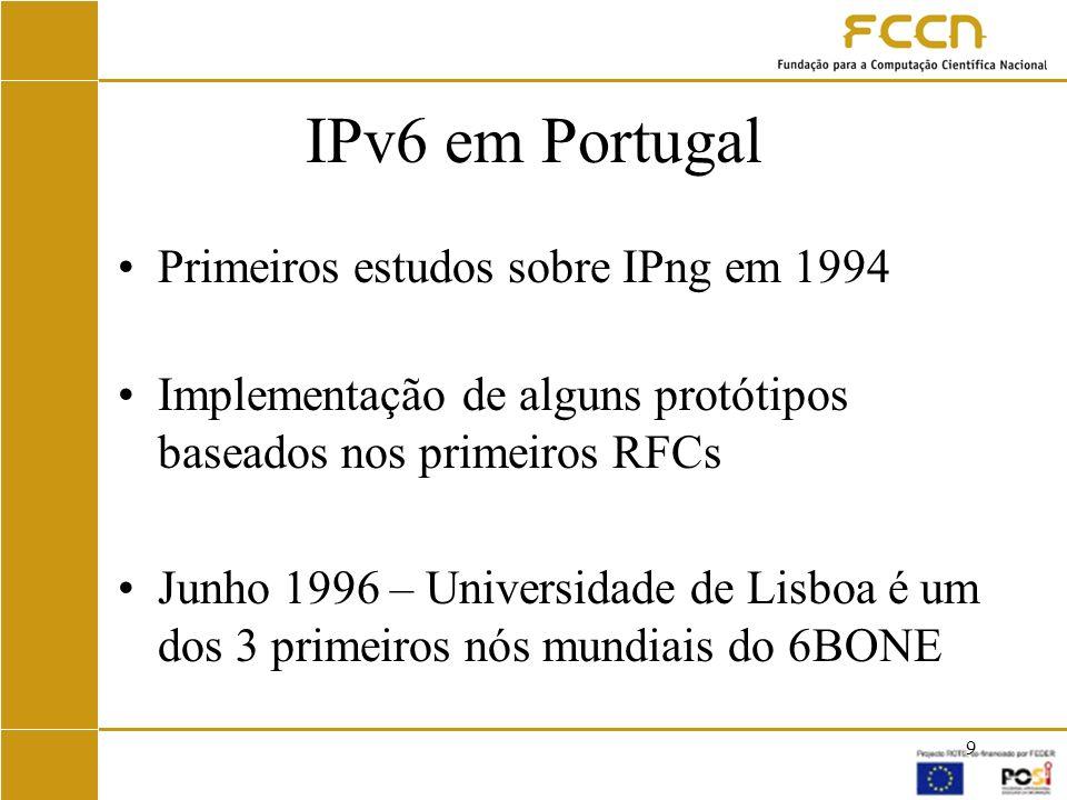 20 IPv6 na RCTS - Hoje