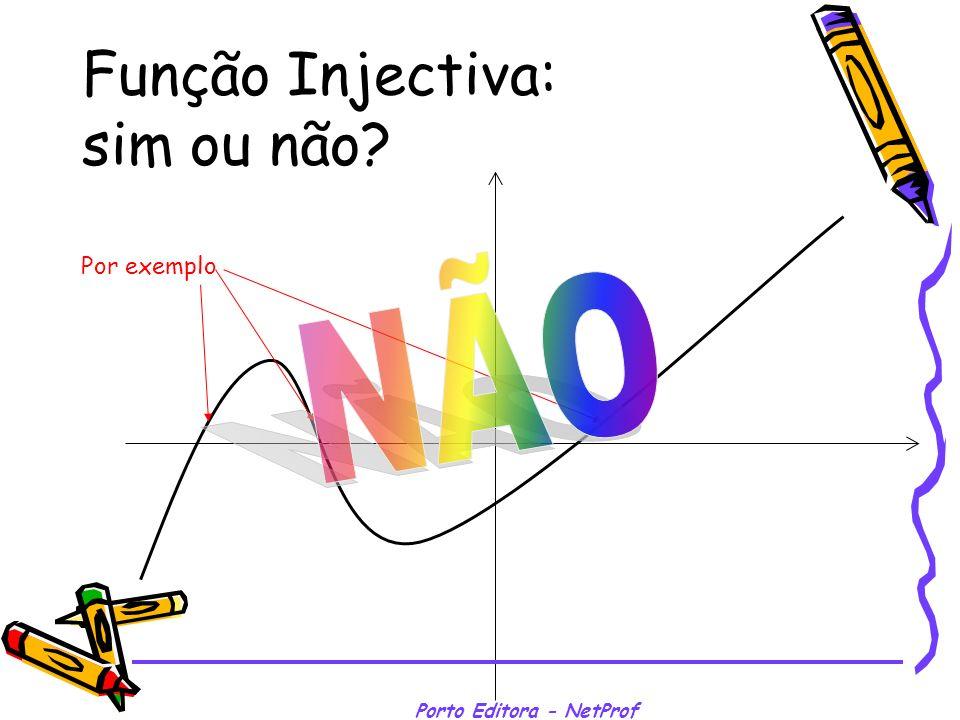 Porto Editora - NetProf Função Injectiva: sim ou não? Por exemplo