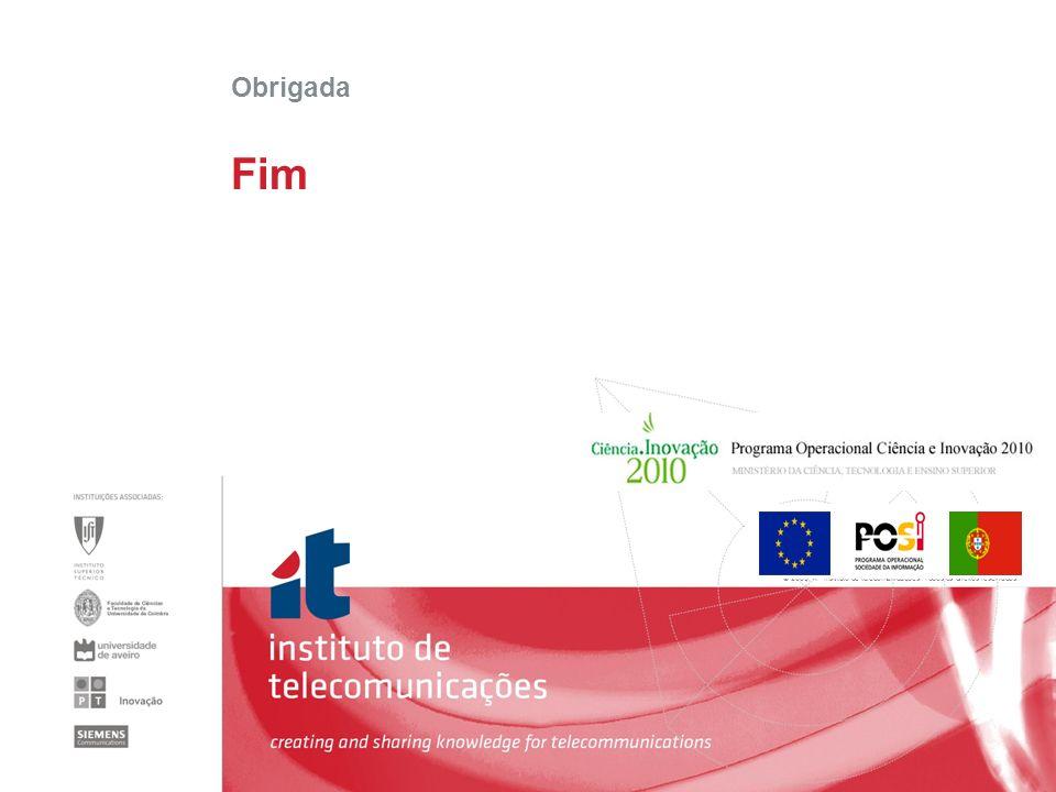 © 2005, it - instituto de telecomunicações. Todos os direitos reservados. Fim Obrigada