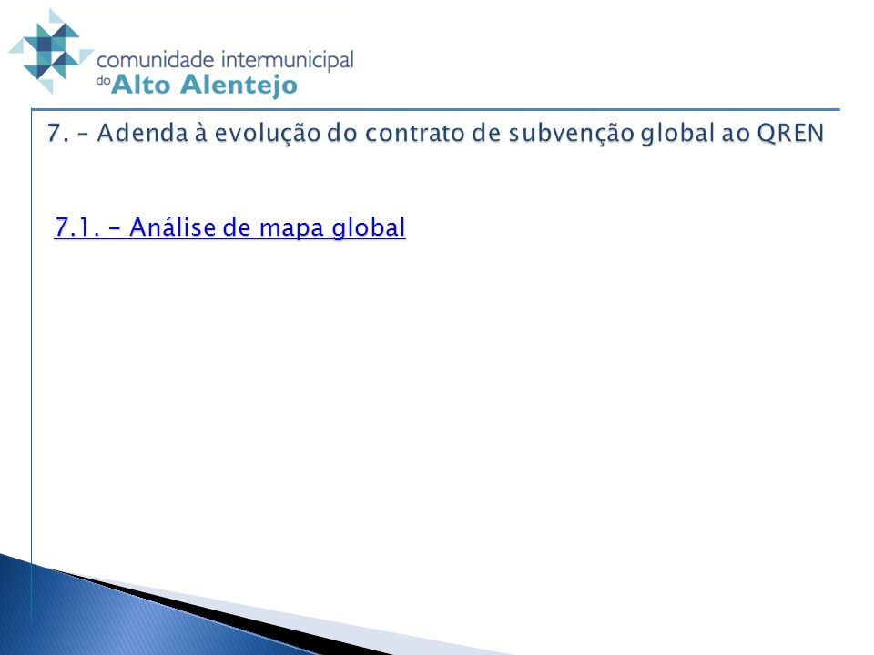 7.1. - Análise de mapa global 7.1. - Análise de mapa global