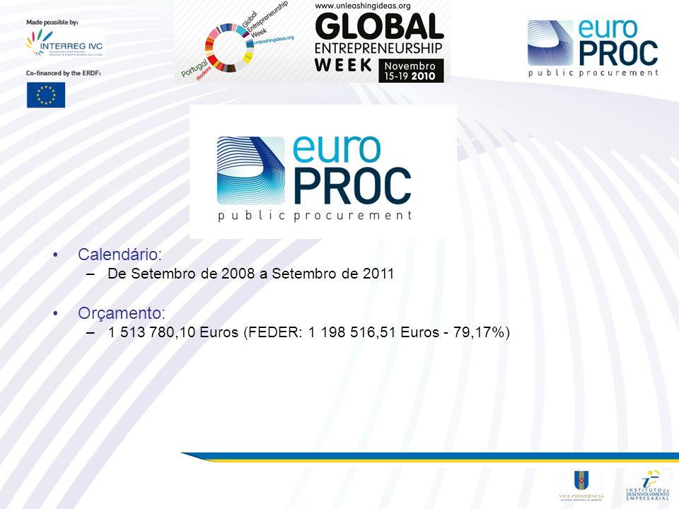 Calendário: –De Setembro de 2008 a Setembro de 2011 Orçamento: –1 513 780,10 Euros (FEDER: 1 198 516,51 Euros - 79,17%)
