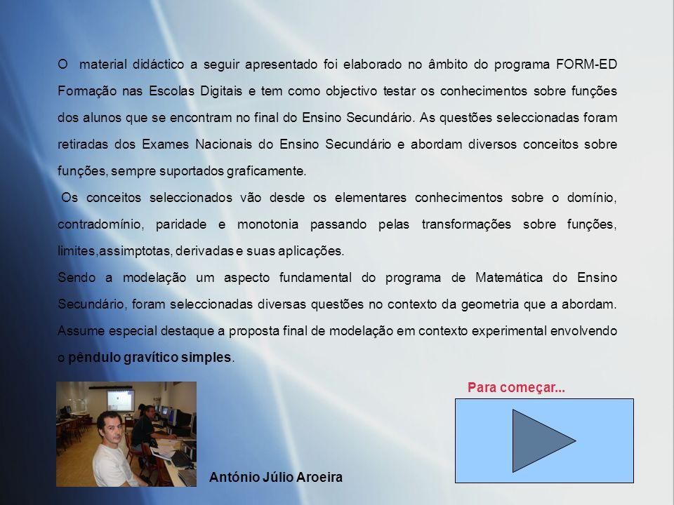 Funções & Gráficos FORM_ED Formação nas Escolas Digitais Julho de 2007 António Júlio Aroeira